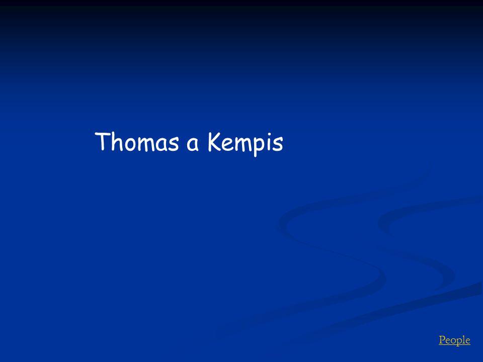 People Thomas a Kempis