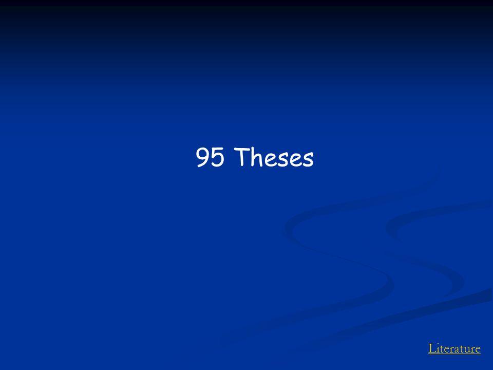 Literature 95 Theses