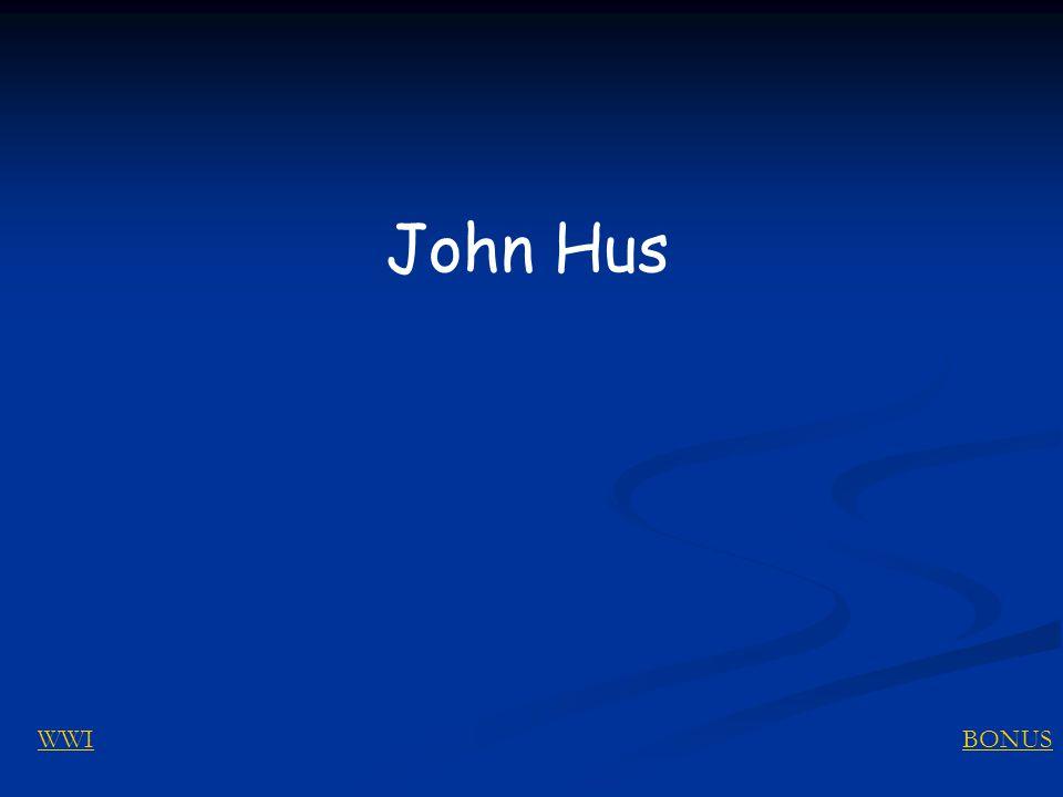 BONUSWWI John Hus