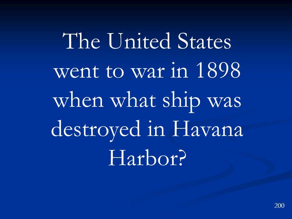 Manila Bay, the Philippines Spanish-American War