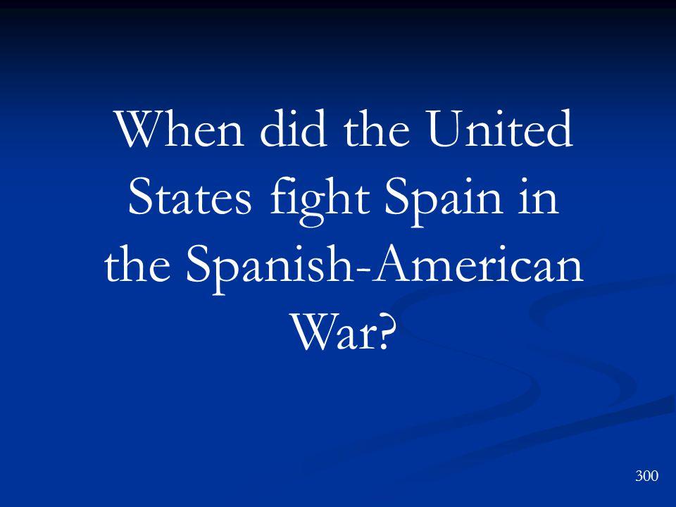 The USS Maine Spanish-American War