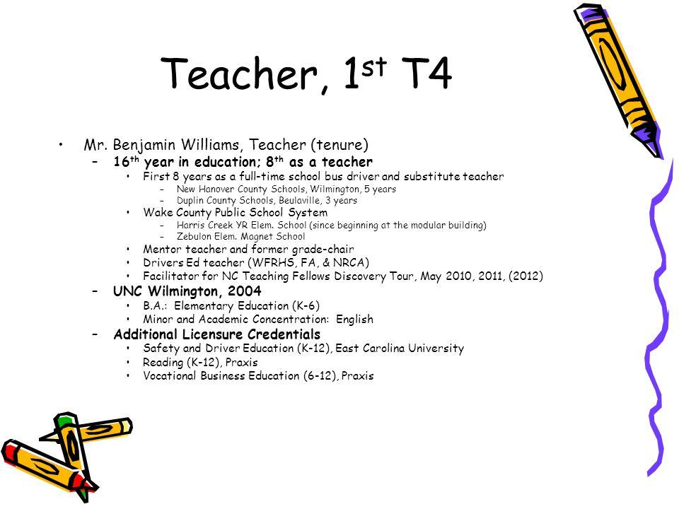 Teacher, 1 st T4 Mr.