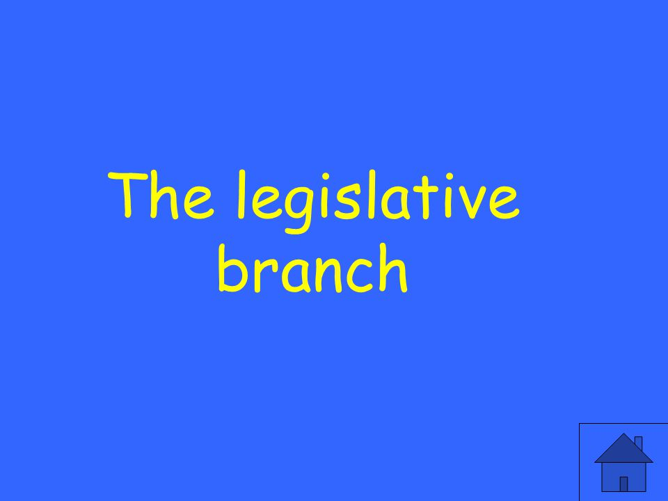 What branch is created in the first article and makes the laws