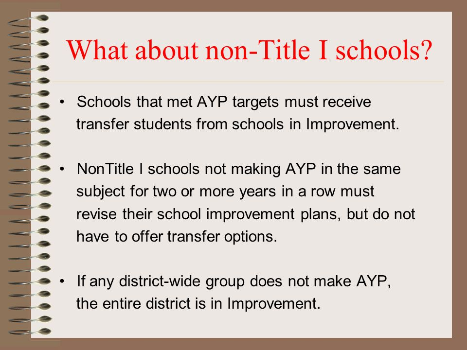 What about non-Title I schools.