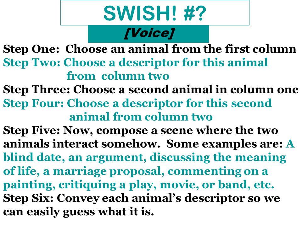 SWISH. #.