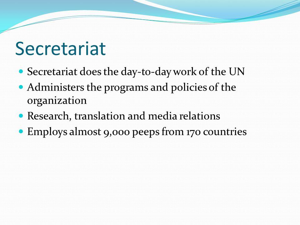 Trusteeship Council Administered the UN s trust territories.