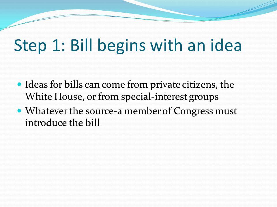 When a Representative has written a bill, the bill needs a sponsor.