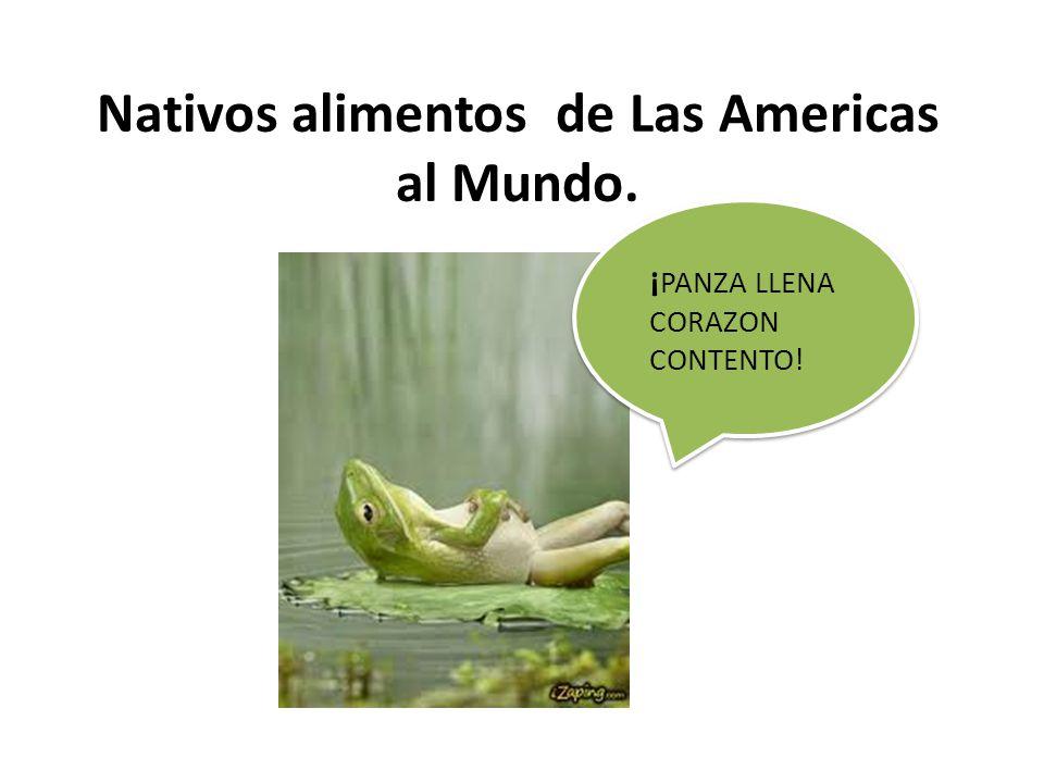 ¡ PANZA LLENA CORAZON CONTENTO! Nativos alimentos de Las Americas al Mundo.