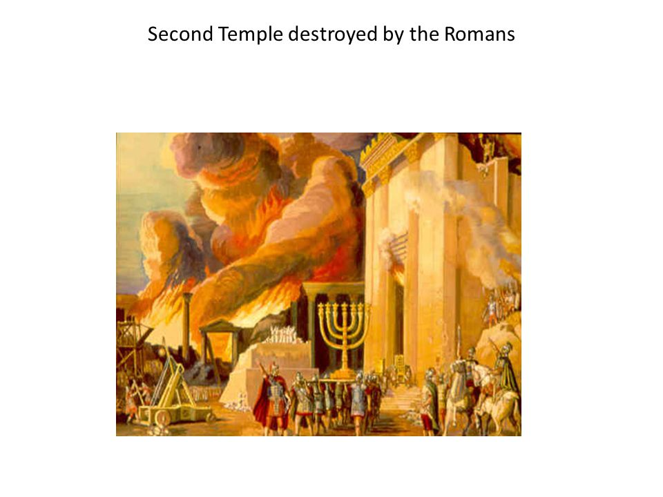 Second Temple destroyed by the Romans