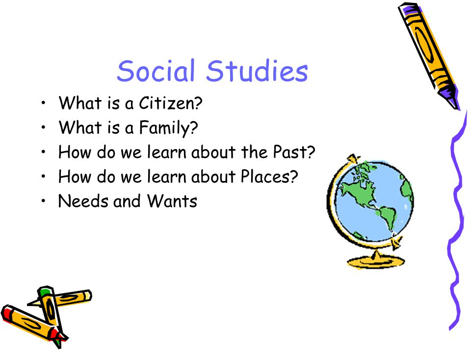 Social Studies What is a Citizen. What is a Family.
