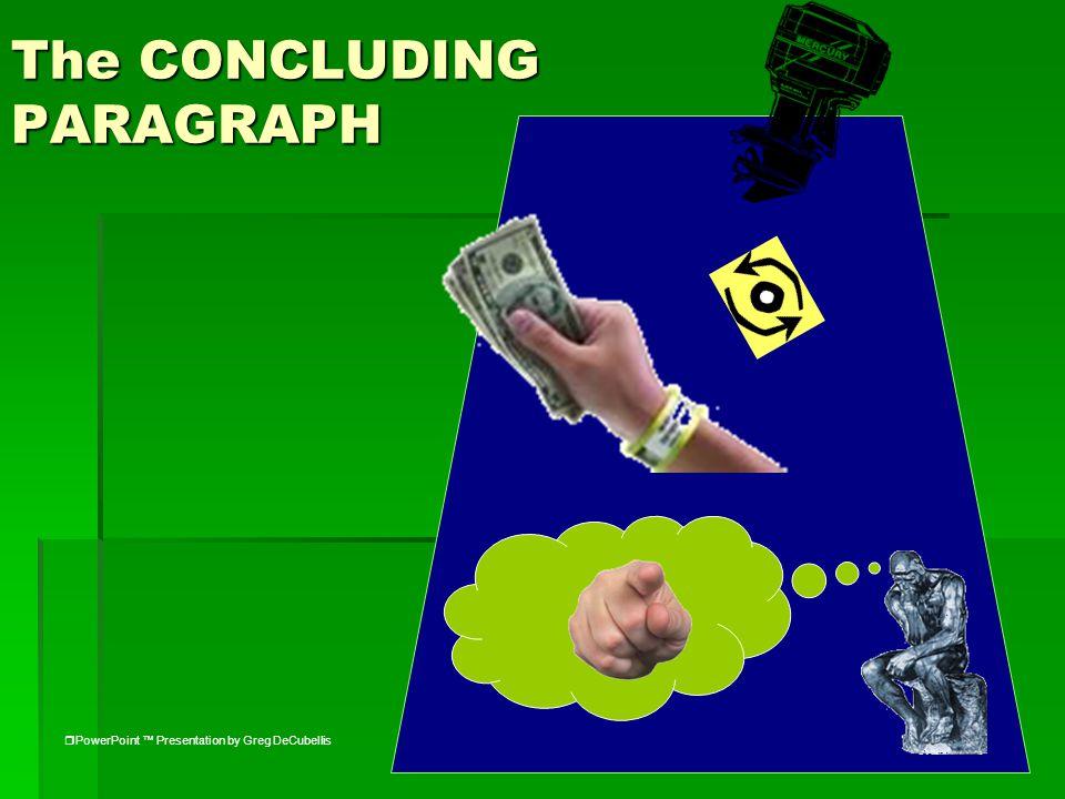 The CONCLUDING PARAGRAPH  PowerPoint ™ Presentation by Greg DeCubellis