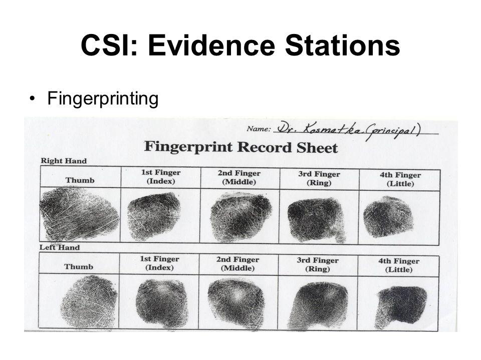 CSI: Evidence Stations Fingerprinting