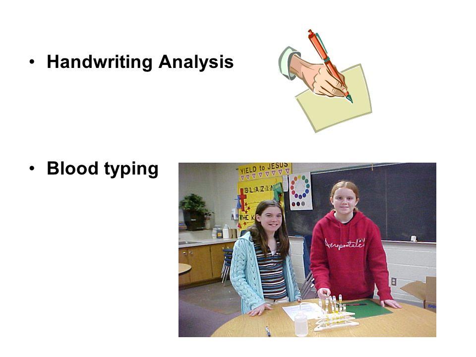 Handwriting Analysis Blood typing