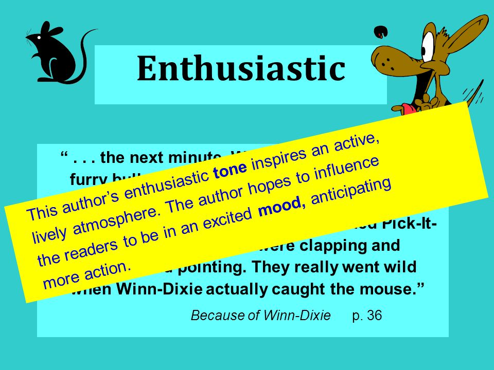 Enthusiastic ...