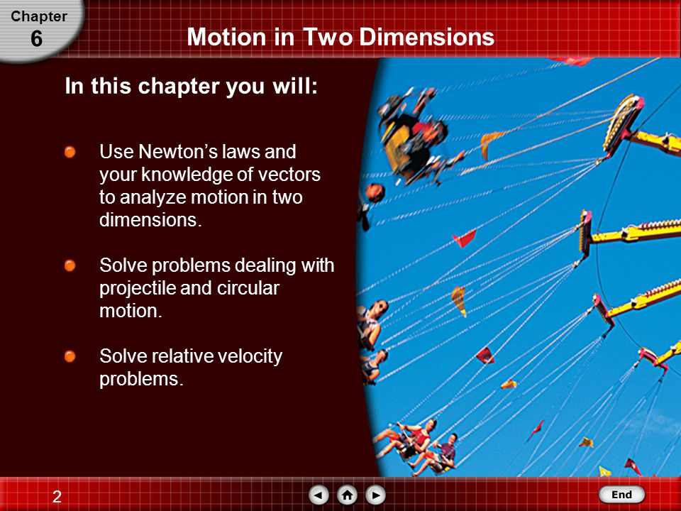 1 Motion in Two Dimensions Chapter 6