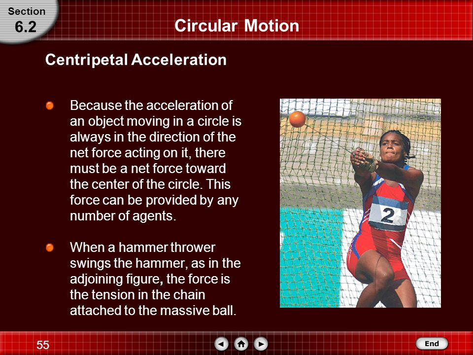 54 Circular Motion One way of measuring the speed of an object moving in a circle is to measure its period, T, the time needed for the object to make one complete revolution.
