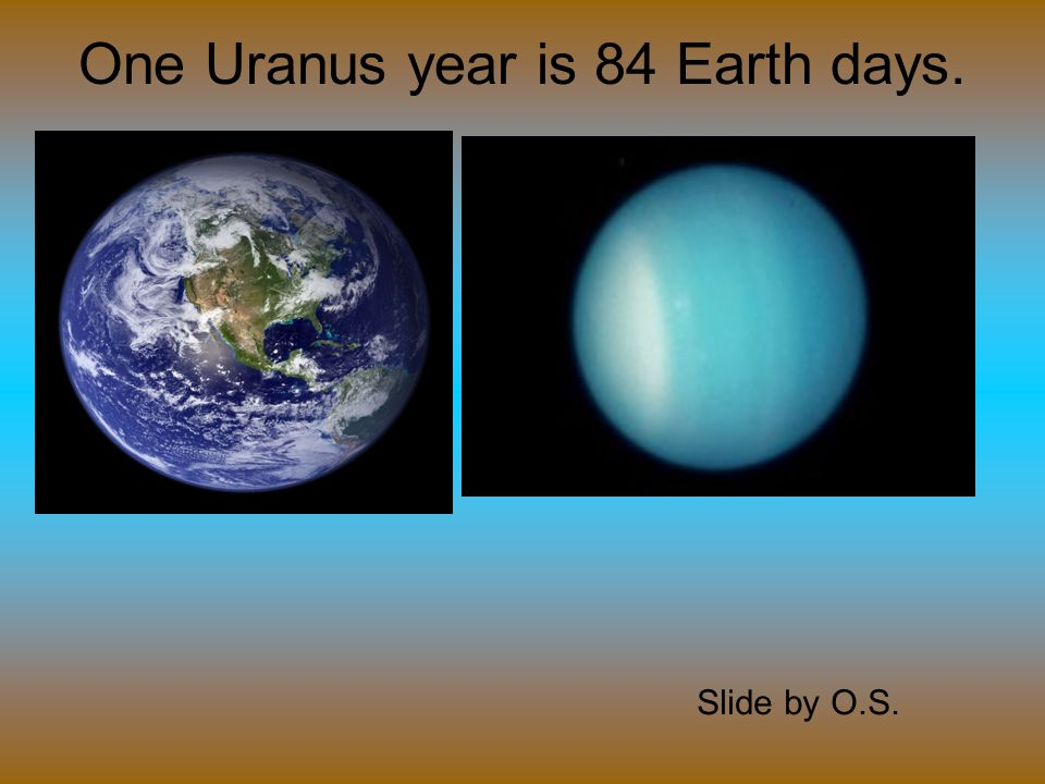 Uranus has 27 moons. Slide by O.S.