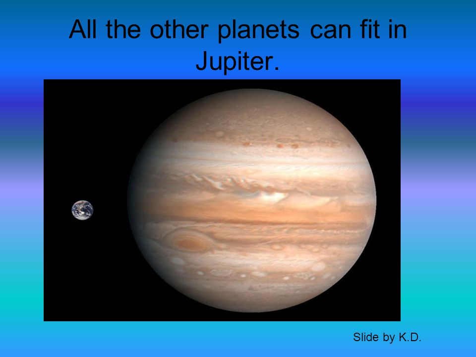 Jupiter has 50 official moons. Slide by K.D.