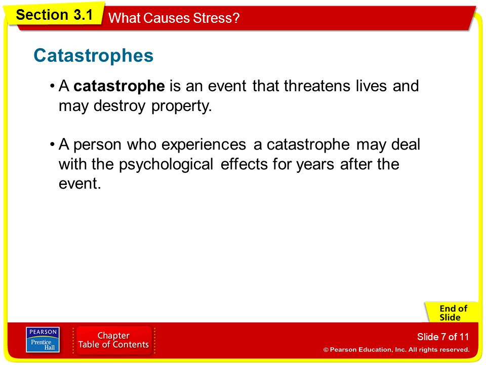 Section 3.1 What Causes Stress.