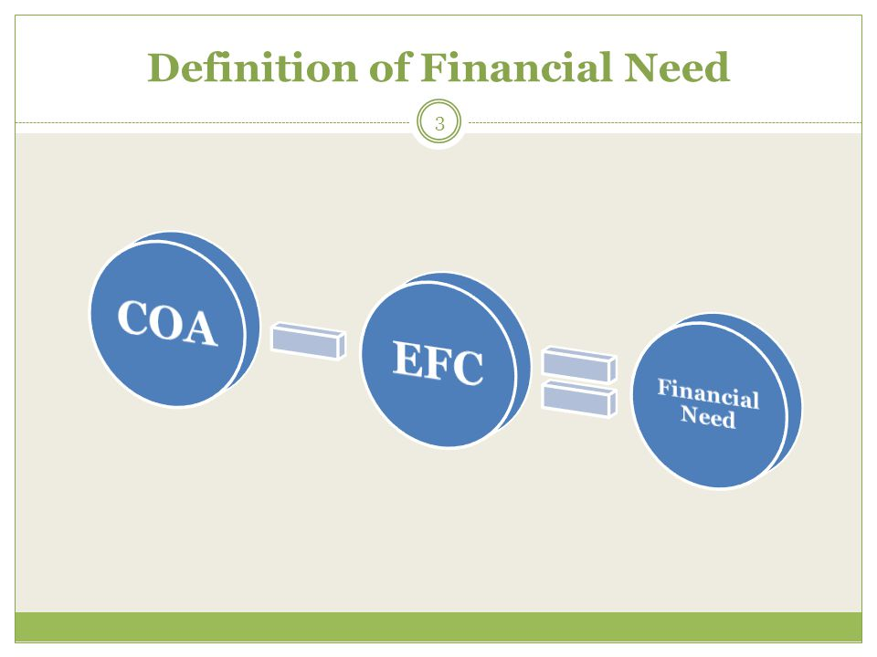 Definition of Financial Need 3