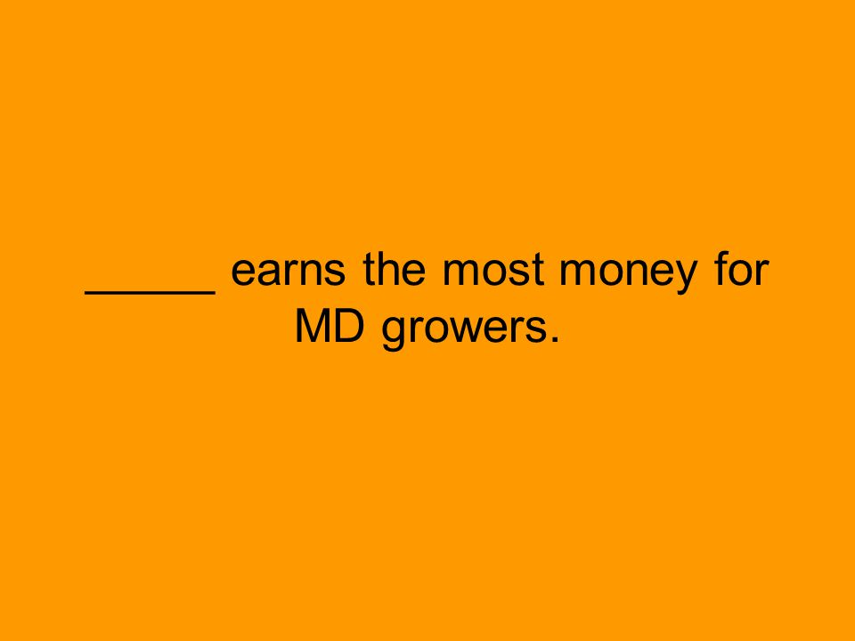 _____ earns the most money for MD growers.