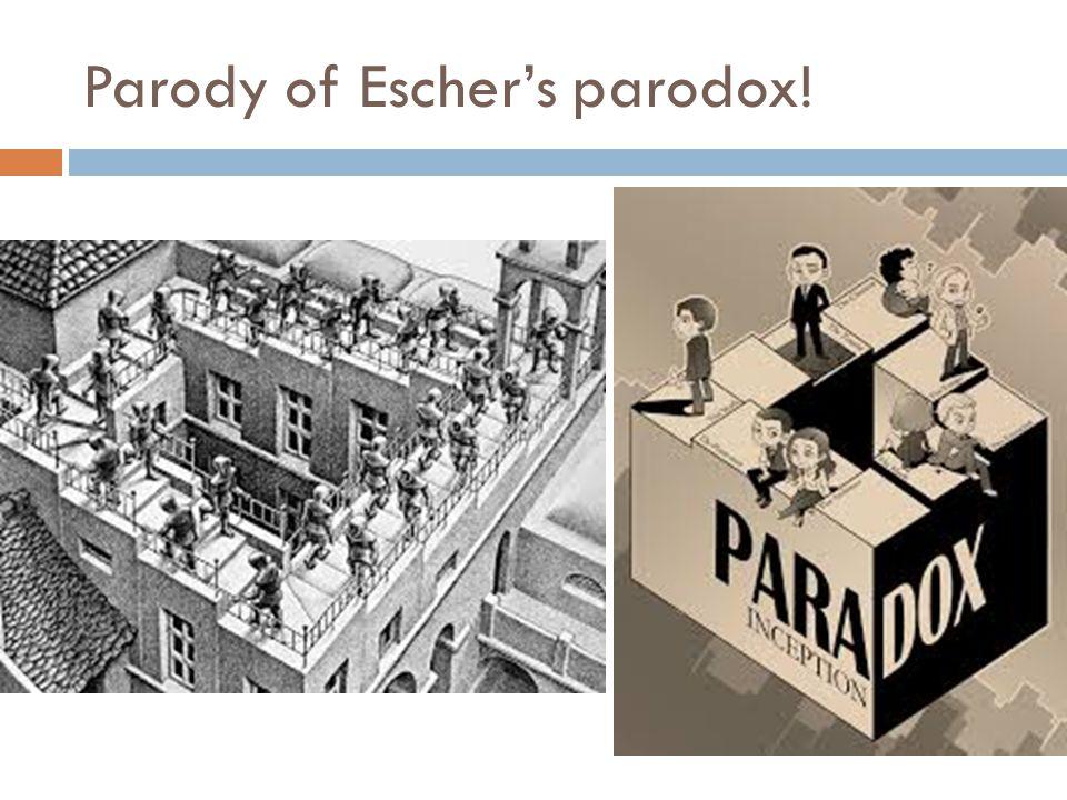 Parody of Escher's parodox!