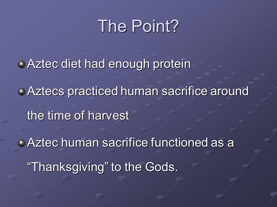 Were the Aztecs 'vegetarians'.