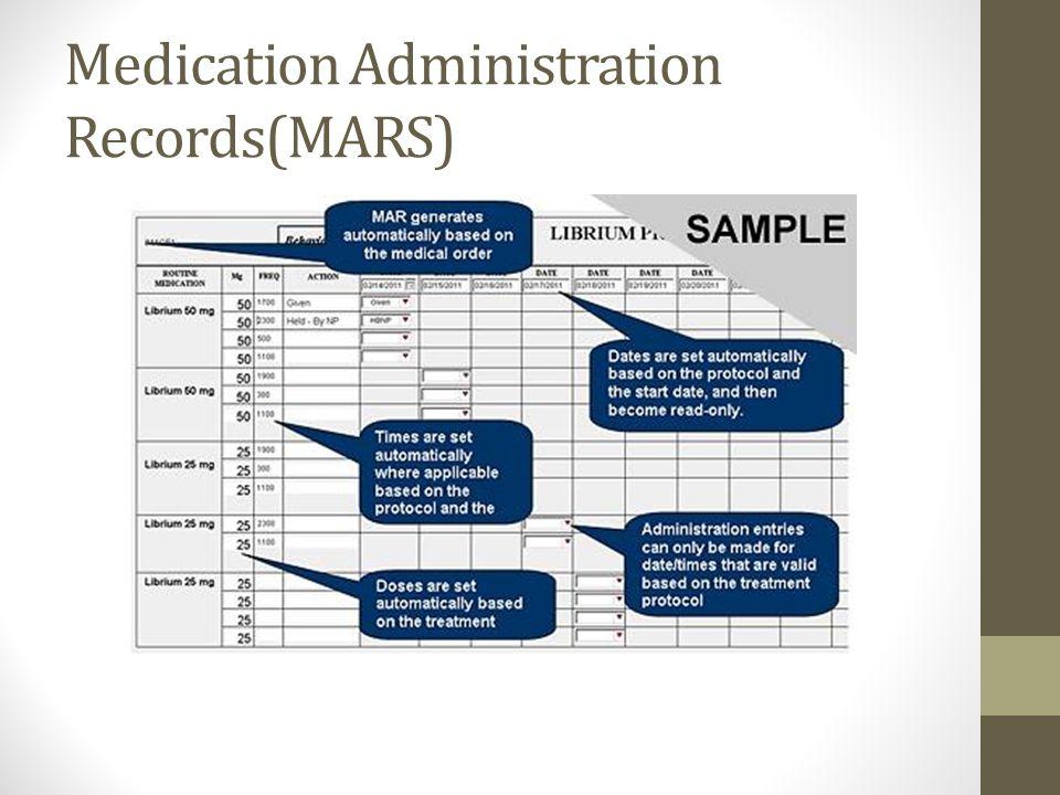 Medication Administration Records(MARS)