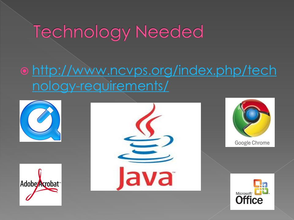  http://www.ncvps.org/index.php/tech nology-requirements/ http://www.ncvps.org/index.php/tech nology-requirements/