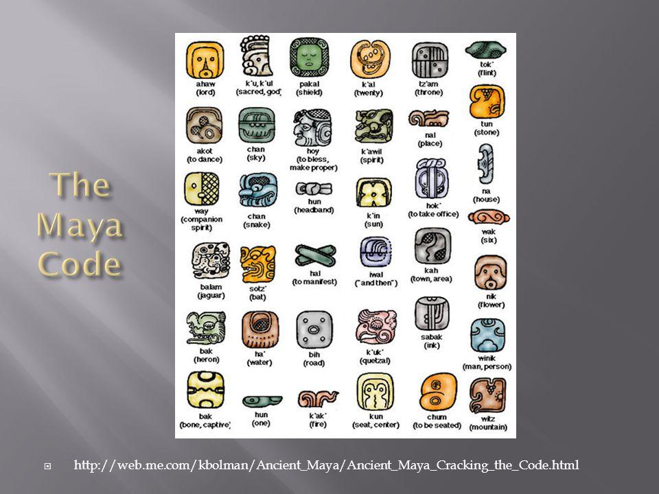  http://web.me.com/kbolman/Ancient_Maya/Ancient_Maya_Cracking_the_Code.html