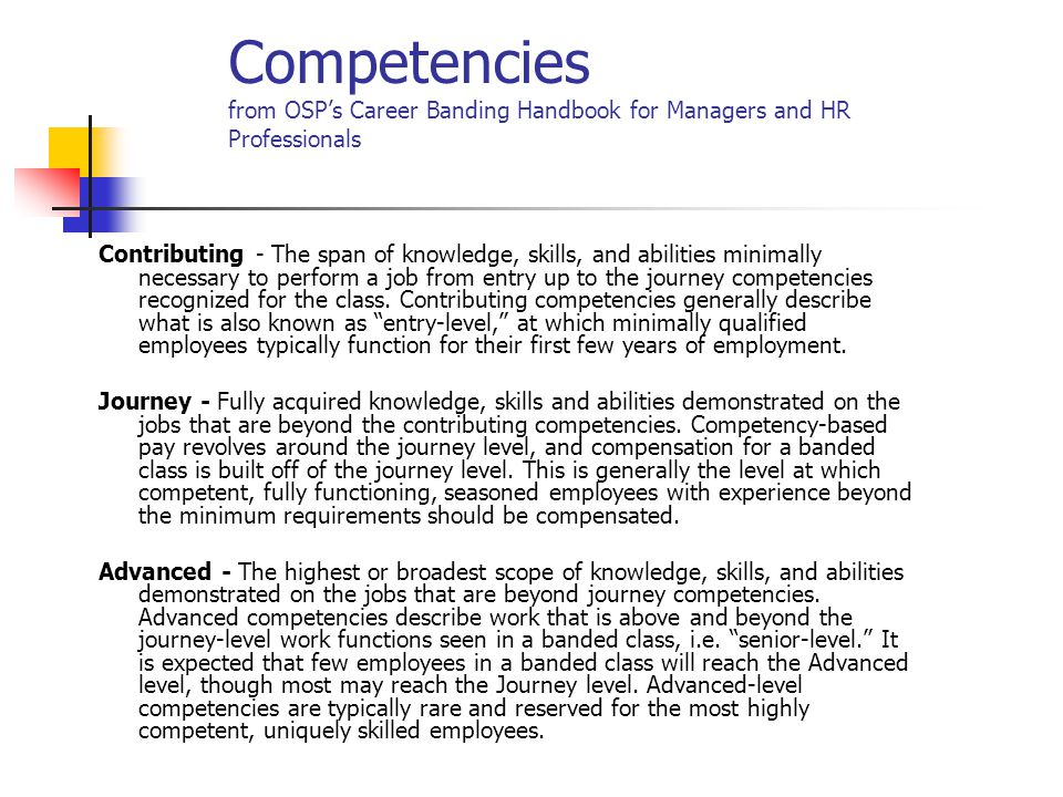 Example of Prof Nurse Assessment & Career Development Plan, con't Document on Competency Assessment form under Demonstration of Employee Competencies. Jane is not consistently effective in communicating with other team members or successful at giving summary of patient status regarding effectiveness of new meds.