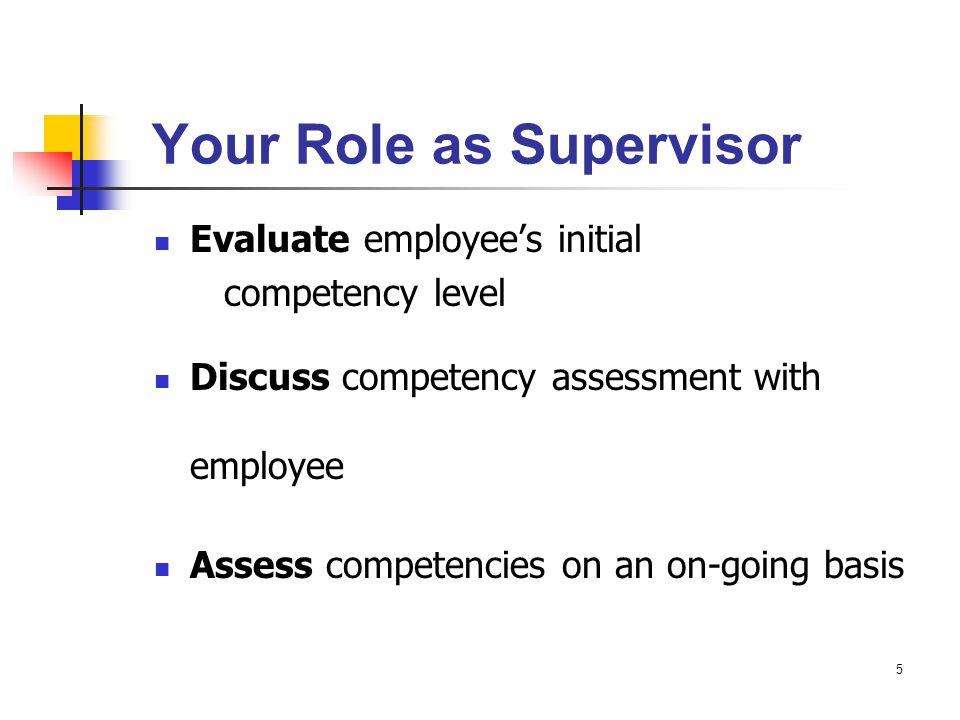Example of Nurse Supervisor Assessment & Career Development Plan, con't What steps do you take as a supervisor.