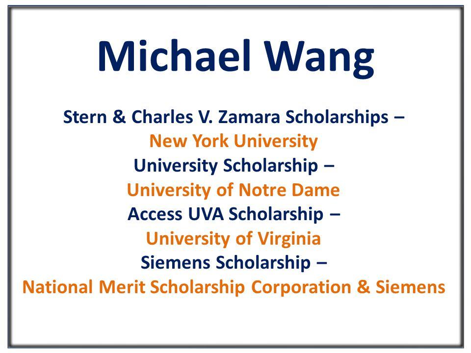 Michael Wang Stern & Charles V.