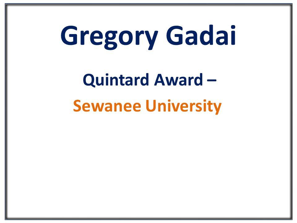 Gregory Gadai Quintard Award – Sewanee University