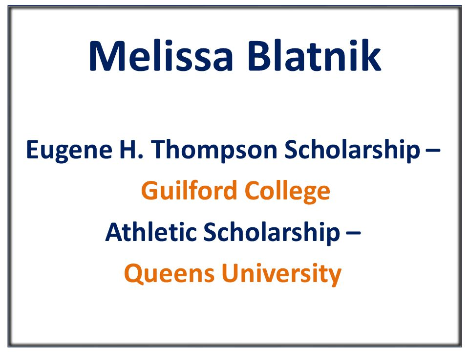 Melissa Blatnik Eugene H.
