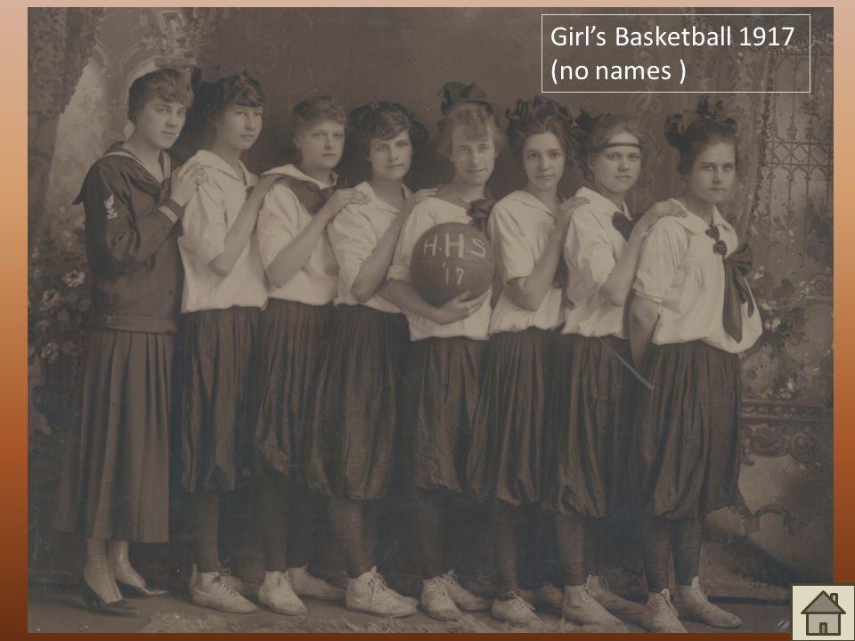Girl's Basketball 1917 (no names )