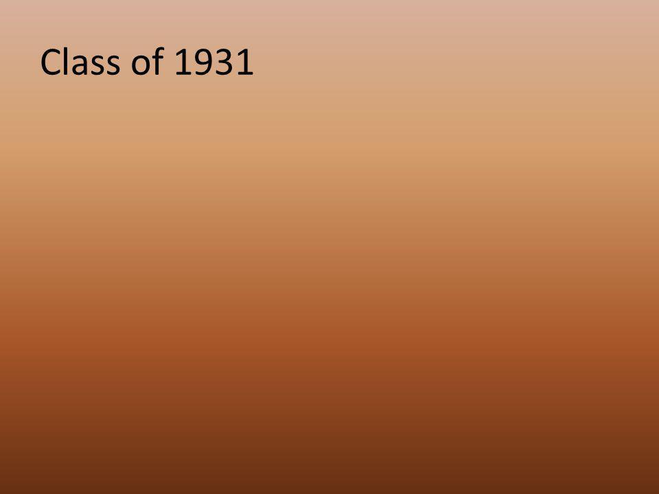 Class of 1931