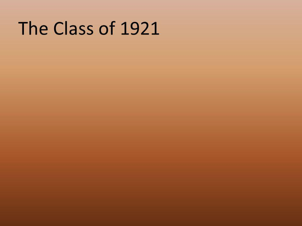 The Class of 1921