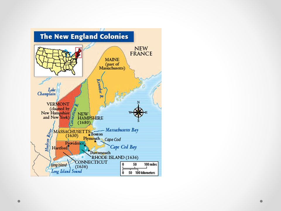 New England Green color was French Pink and red was British Hudson River and NYC were Dutch