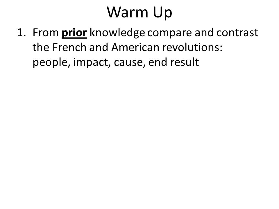 CH 21: REVOLUTIONARY CHANGES IN THE ATLANTIC WORLD, 1750- 1850