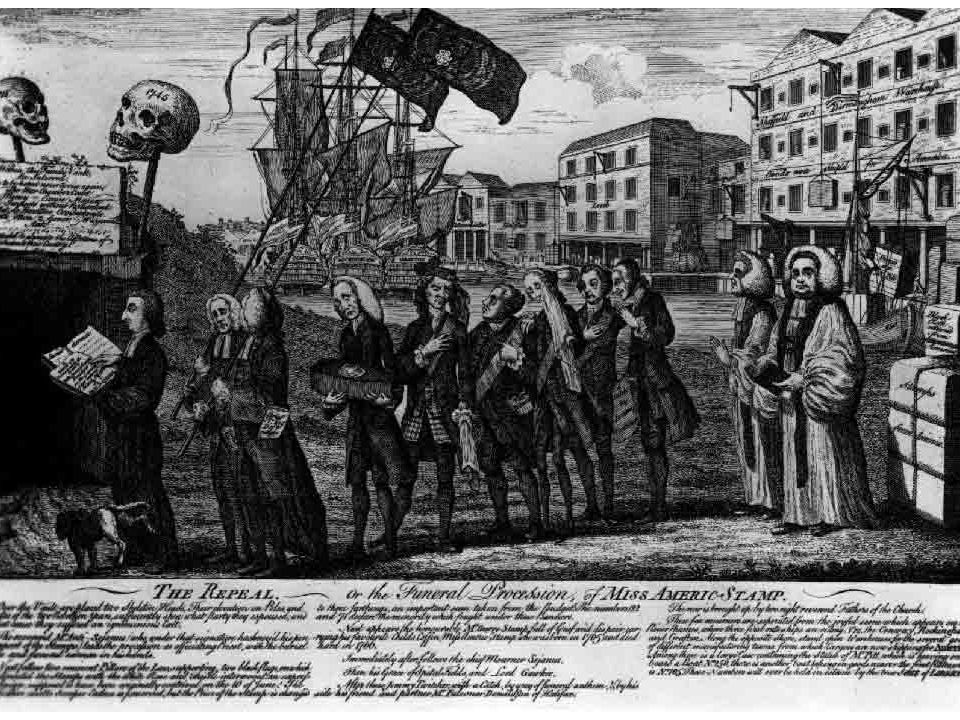 Maker: Benjamin Wilson Date: March 18, 1766 One of the most famous and popular of the political satires commenting on the Stamp Act, this print actually celebrates the end of the tax.