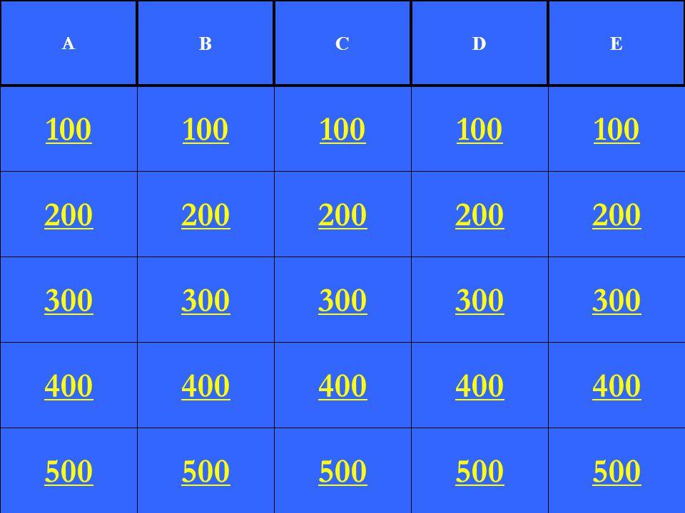 200 300 400 500 100 200 300 400 500 100 200 300 400 500 100 200 300 400 500 100 200 300 400 500 100 A BCDE