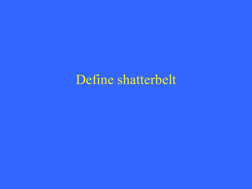 Define shatterbelt