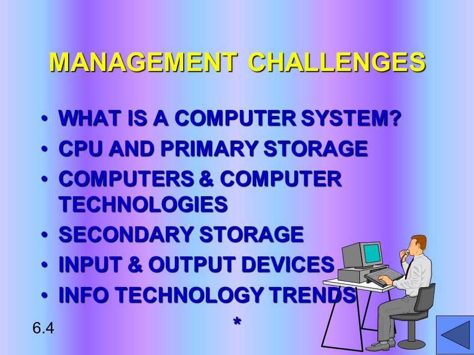 MANAGEMENT CHALLENGES WHAT IS A COMPUTER SYSTEM WHAT IS A COMPUTER SYSTEM.
