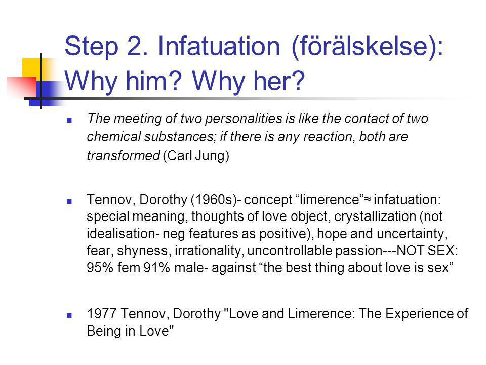 Step 2. Infatuation (förälskelse): Why him. Why her.