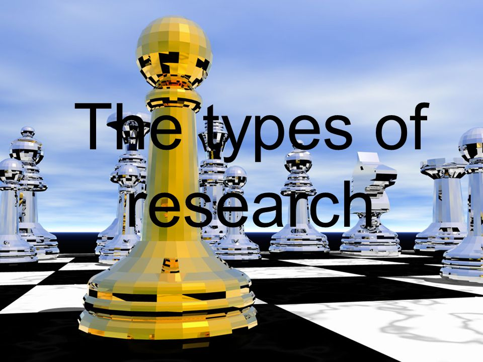 The types of research