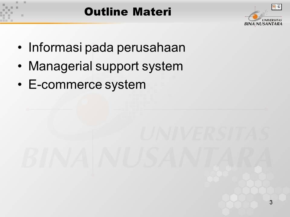 14 Fat client/thin server – most processing done on client Thin client/fat server – most processing done on server Note: Web and groupware servers usually thin clients Database servers usually thin servers Client/Server Systems C RITICAL C ONCEPTS Informasi pada perusahaan