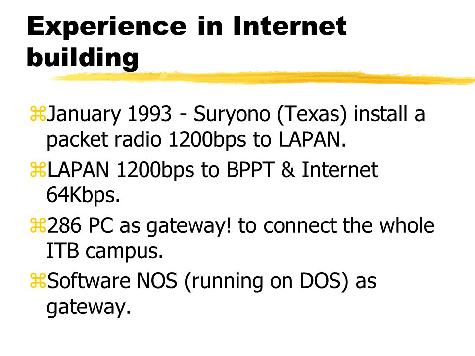 Outline zHistorical Perspective zCurrent Infrastructure.