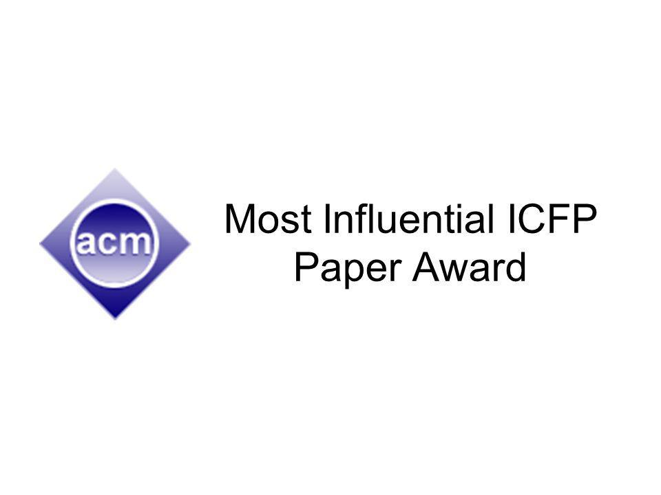 Most Influential ICFP Paper Award