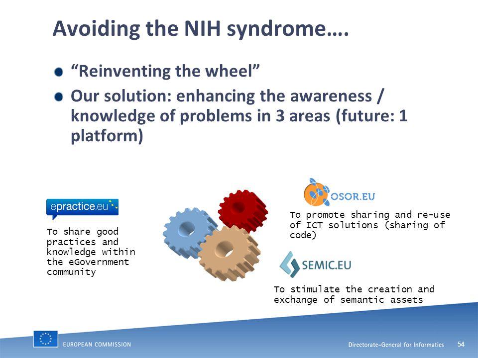54 Avoiding the NIH syndrome….